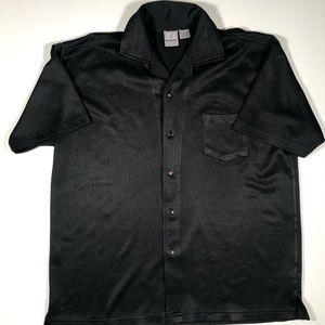 Ferruche Mens Polo Shirt Black Size Large